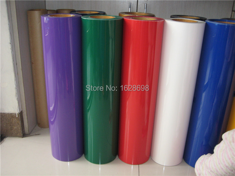 Korea 30 colors to choose free shipping Heat Transfer Vinyl cutting film, Cutter Press PVC Iron-on for textile 50cm x 100cm(China (Mainland))