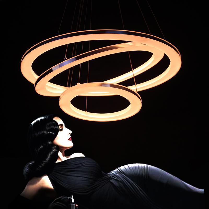 Modern creative Acrylic Brushed Nickel Pendant Light Led 3 Lights living room hotel Pendant Lamp(China (Mainland))