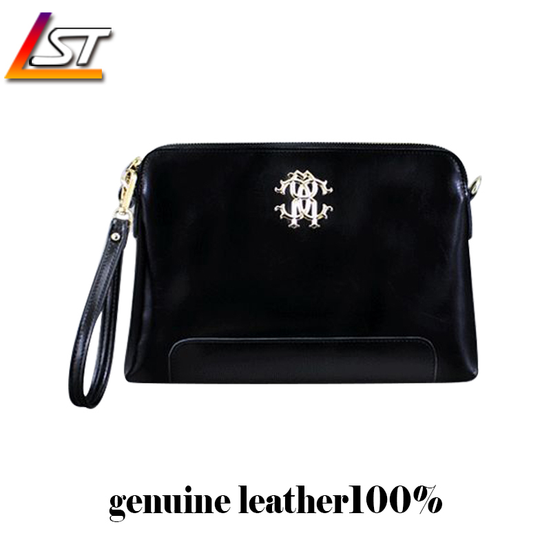 Free shipping sell well fashion simple design trademark leather clutch bag strap multicolor leather strap Day Clutches(China (Mainland))