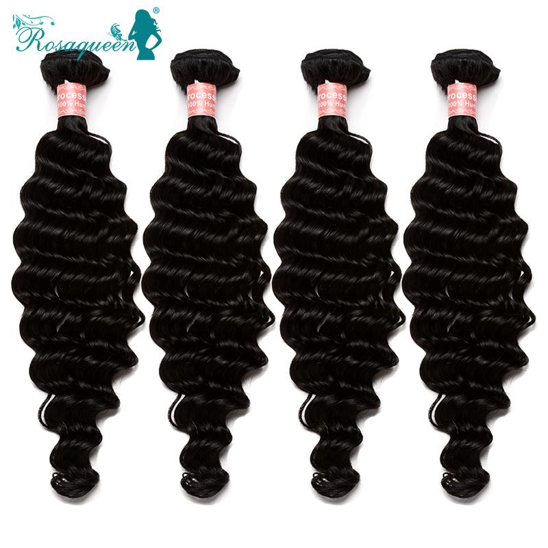 Rosa Hair Products Peruvian Deep Wave Hair Bundles 4 Pcs/Lot Peruvian Virgin Hair Deep Wave100% Virgin Human Hair Weave<br><br>Aliexpress