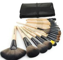 2015 HOT Sale Professional 24 pcs Makeup Brush Set tools Make-up Toiletry Kit Wool Brand Make Up Brushes Set Case