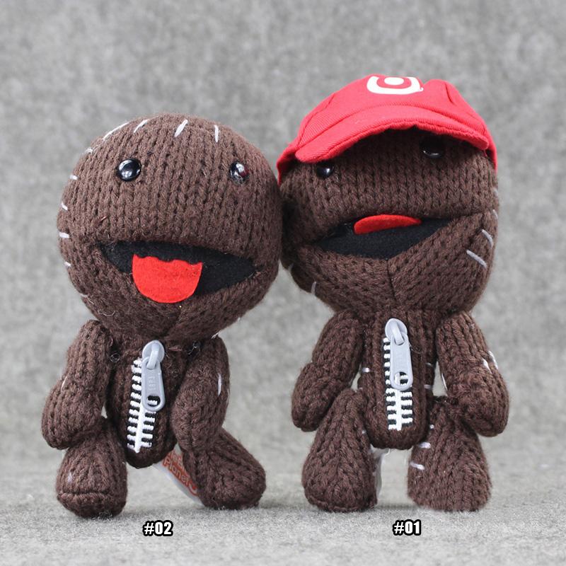 16CM Little Big Planet Sackboy Plush Toys Cuddly Knitted Stuffed Kids Toy(China (Mainland))
