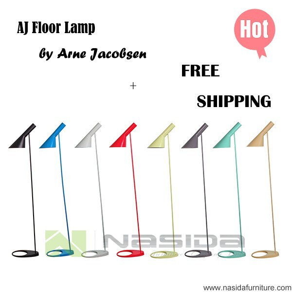 LP252 hot sales Arne Jacobsen AJ Floor Lamp red blue green and coffee all color lamp bedroom E27 LED Lighting Designer lighting(China (Mainland))