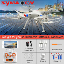 SYMA X8W 2.4G 4CH 6 Axis RC Quadcopter Headless Mode 3D Flip Drone with HD Camera RTF RC Helicopter Kids toys for Children