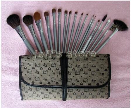 18pcs professional cosmetics hello kitty makeup brushes set make up brush wholesale
