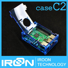 case C2: Raspberry PI3 model B Blue Clear Acrylic Case Cover Shell Enclosure Box for Raspberry PI 2 Model B and Model B+(China (Mainland))