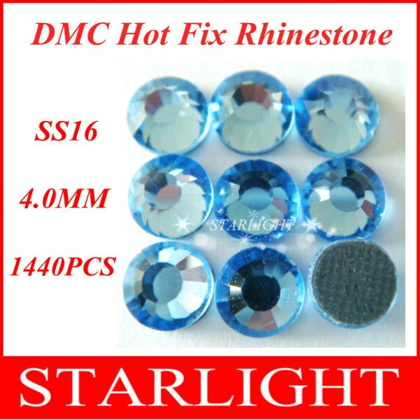 FREE SHIPPING,nail rhinestone,Lt. Sapphire Color SS16,China post air mail free,1440pcs/lot star15(China (Mainland))