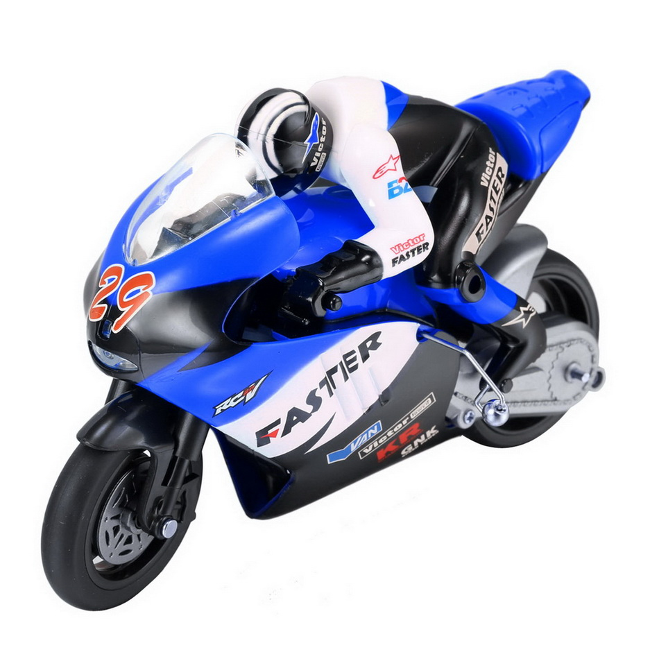 JXD 806 Remote Control RC Motorcycle 1:10 Scale Blue 2.4Ghz 4 Channel for Children Built-in Gyroscope Kids Boy Toy Gift(China (Mainland))