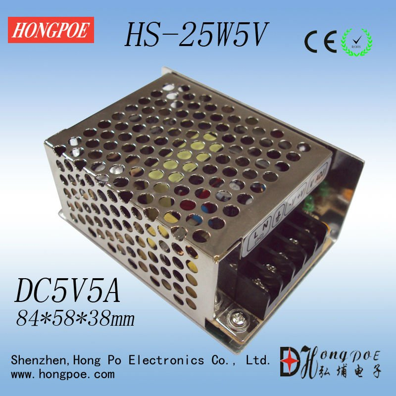 power supply 5V5A 25W 5V LED power supply DC power Free shipping 84 * 58 * 38mm<br><br>Aliexpress