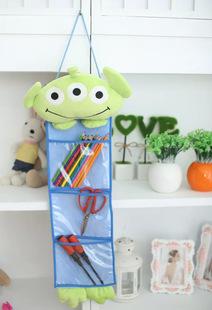 New Cartoon Plush Soft Toy 3 interlayer Hang Storage Bag Behind Door Sundries Recive Bag Anime Figure Models(China (Mainland))