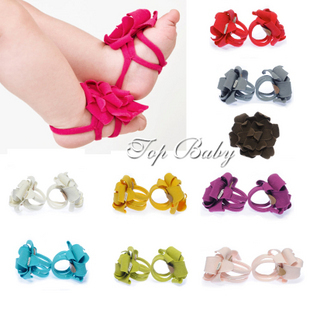 Best selling!!Top Baby Shoes Flower girls Shoes Infant Prewalker kids Shoes Cotton Barefoot Sandals Free shipping 10pair/lot