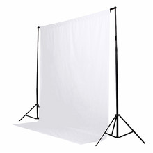 New Stylish High Quality White Cotton Non-pollutant Textile Muslin Photo Background Studio Photography Screen Chromakey Backdrop