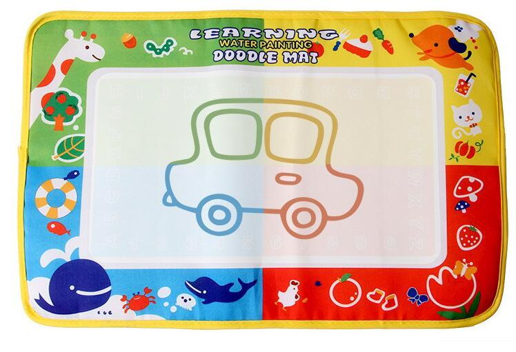 46x30cm 4 color Water Drawing Toys Mat Aquadoodle Mat&1 Magic Pen/Water Drawing board/baby play mat(China (Mainland))