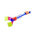 50 pcs Children Boys Flying Dish Elastic LED Flash Rotating Copter Arrow Rocket Flashing Flying Toy