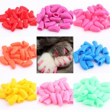 20pcs Pet Cat Paw Claw Control Nail Caps Covers Protector Protective Colorful Non-toxic  free shipping(China (Mainland))