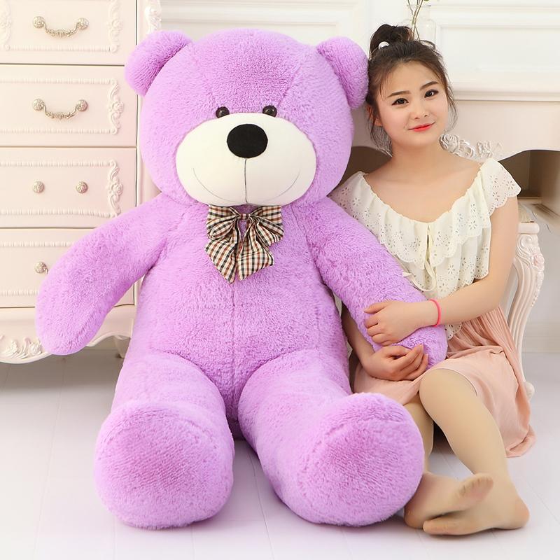 Big Sale 220cm Giant teddy bear soft toy huge large big stuffed toys plush life size kid baby dolls lover valentine gift(China (Mainland))