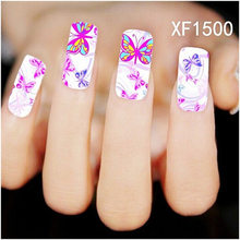 New Pro Water Transfer Butterfly Decal Women Nail Stickers Nail Art Acrylic Manicure Tips DIY Sell Hotting(China (Mainland))