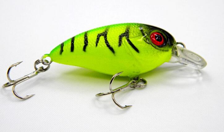 5pcs Fishing bait 3D Crank Lures 7 7g 6cm High Quality Fishing lure 6 high carbon