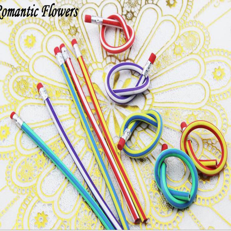 Бесплатная доставка Горячей Продажи Произвольно изогнутые полосой мягкий карандаш с постоянно с резиновые забавные игрушки