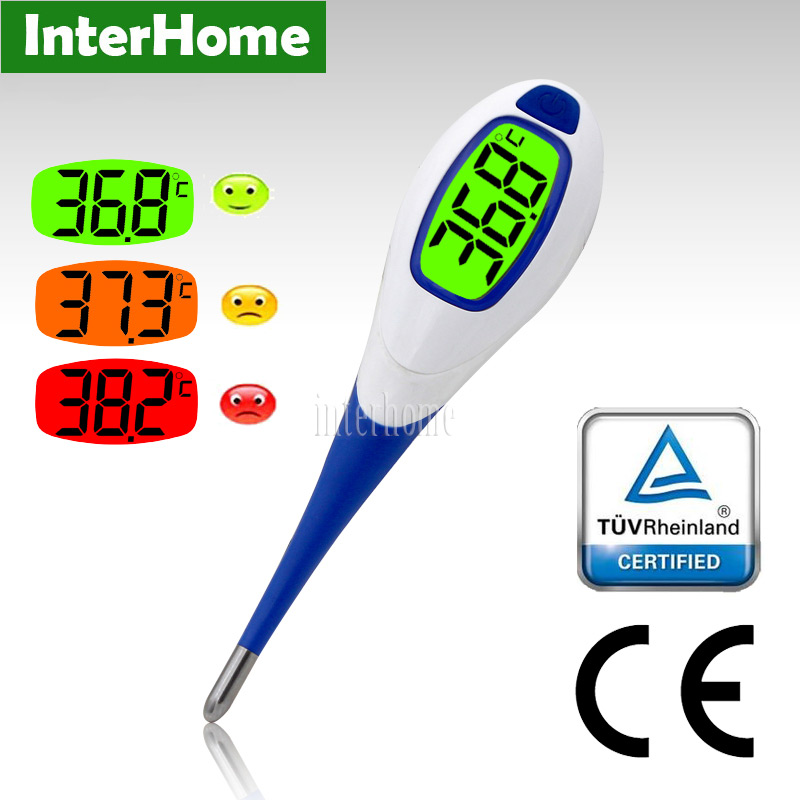 New Waterproof Fast Read Digital Clinical Thermometers Baby Fever Alert Function Medical Body Temperature Thermograph Instrument(China (Mainland))