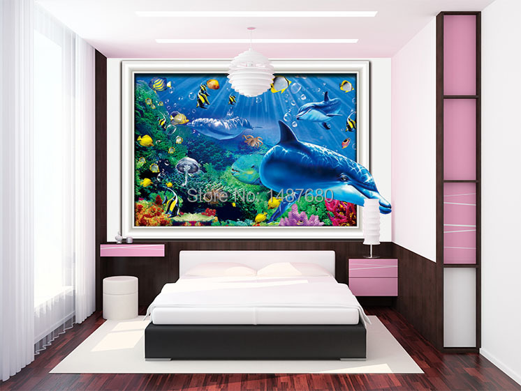 Any size individuality mural photo 3d wallpaper modern tv for Custom wall mural decals