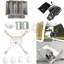 Camera Lens Sun Hood Cap + Motor guards + shoulder Neck strap+3D Camera Gimbal Guard + Antenna Range Booster For DJI Phantom 4