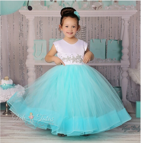 Kids Short Sleeve lower Girl Dresses Soft  Ball Gown for Weddings Mesh and Voile F first  Communion Dresses for Girls  2016<br><br>Aliexpress