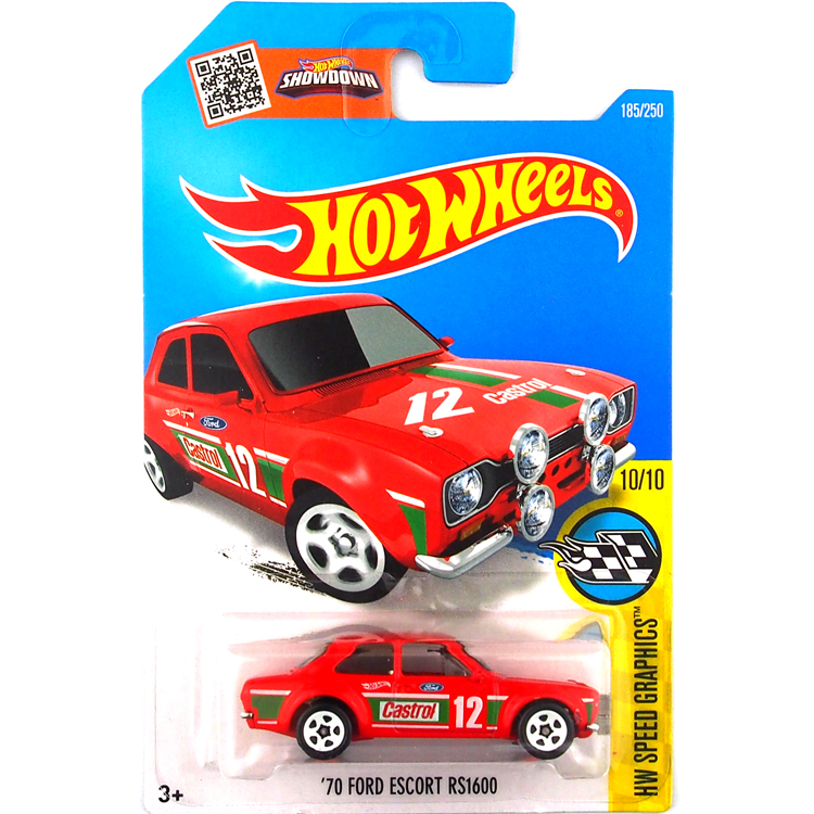 Free Shipping Hot Wheels 2016 ford escort rs 1600 red cars Models Metal Diecast Car Collection Kids Toys Vehicle For Children(China (Mainland))