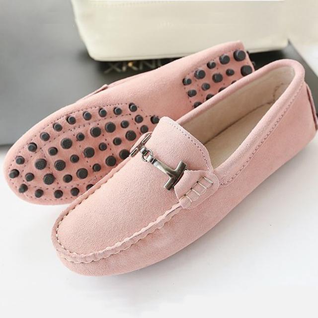 Женская обувь 2016 Новый бренд женщин из натуральной Кожи квартиры случайные Мокасины ...