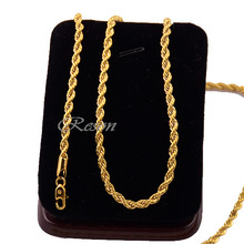 18k gold rope chain promotion