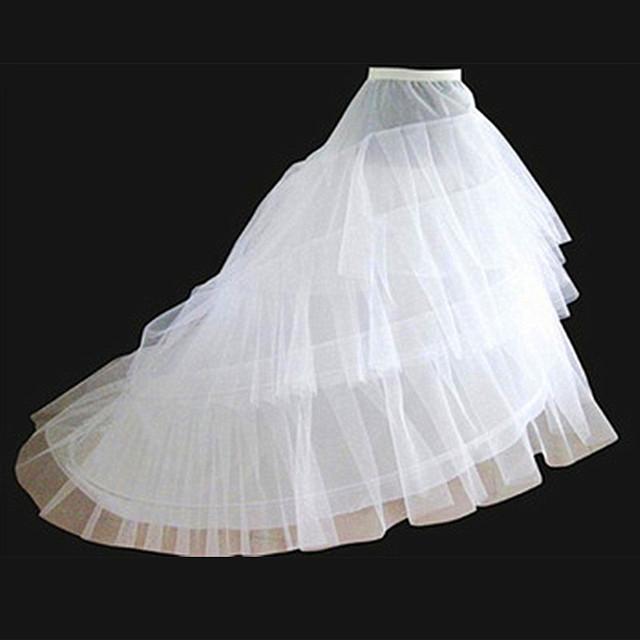 Горячая распродажа белый обруч 3 слоя кринолайн дешевые юбки для свадебных платьев ...