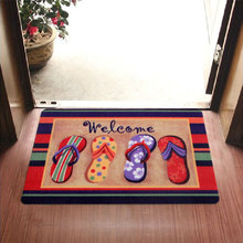 2016 New Welcome Slippers Are Patterned Printing Kitchen Carpets And Rugs Anti-Slip Entrance Door Mats 40*60 CM(China (Mainland))