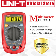 Buy UNI-T UT33D Palm Size Digital Multimeters Resistance Diode Auto Range LCD Backlight Continuity Buzzer Square Wave Output Ammeter for $13.25 in AliExpress store
