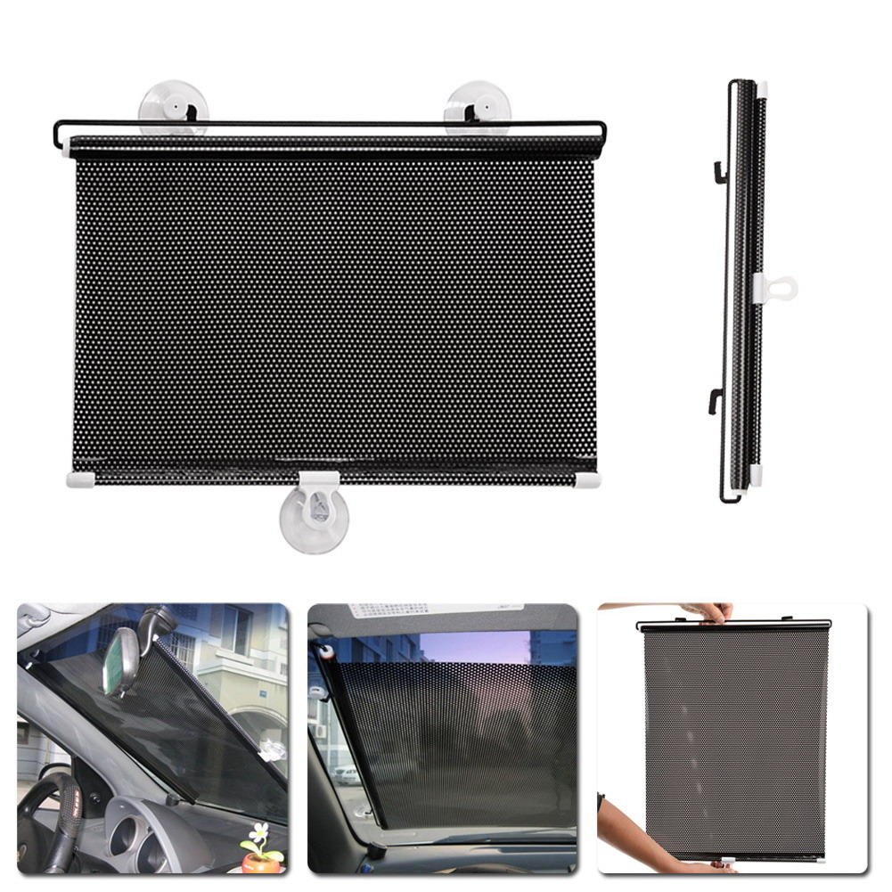 R1B1 1PC 40cm*60cm Auto Retractable Side Window Car Sun Shade Curtain Windshield Sunshade Shield Visor for Cars(China (Mainland))
