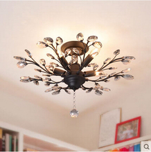 Romantic K9 Crystal LED Ceiling Lights Lustre Branches Modern Lamp Fixtures For Bar Home Lightings Luminaria Lamparas De Techo(China (Mainland))