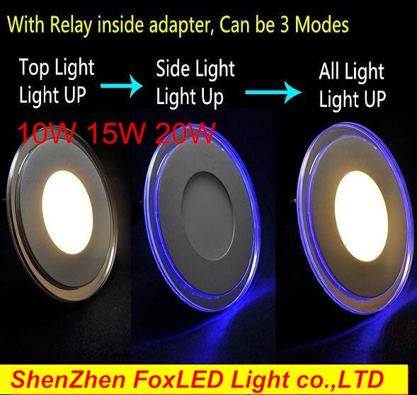 3 models 10W 15W 20W LED Panel Light Ceiling LED Down Light Recessed LED indoor light 3D Effect Lighting AC85-265V(China (Mainland))
