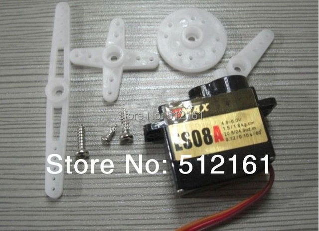2pcs EMax 9g high Sensitive Mini Servo ES08A 8.5g ES08 3D PR for DIY small quadcopter/hexrcopter