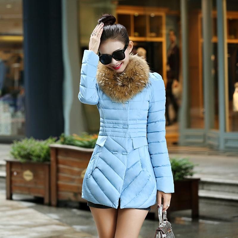 New Womens Winter Jacket Cotton Padded Fur Collar Outerwear Female Wadded Thick Coat Parkas Womens Clothing Plus Size LQ133Одежда и ак�е��уары<br><br><br>Aliexpress