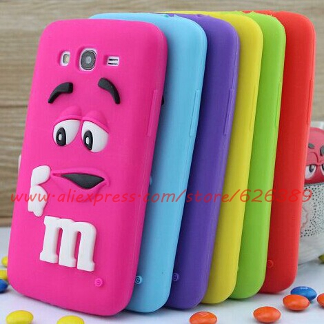 For Samsung Galaxy Grand Neo i9060 Case Cute M&M'S Chocolate Design Silicone Mobile Phone Bags Cases Cover(China (Mainland))