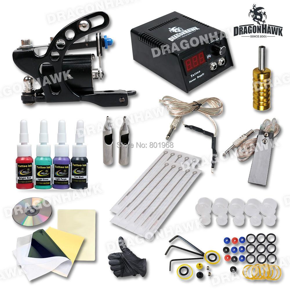 rotary tattoo machine kit with top quality power and needles(China (Mainland))