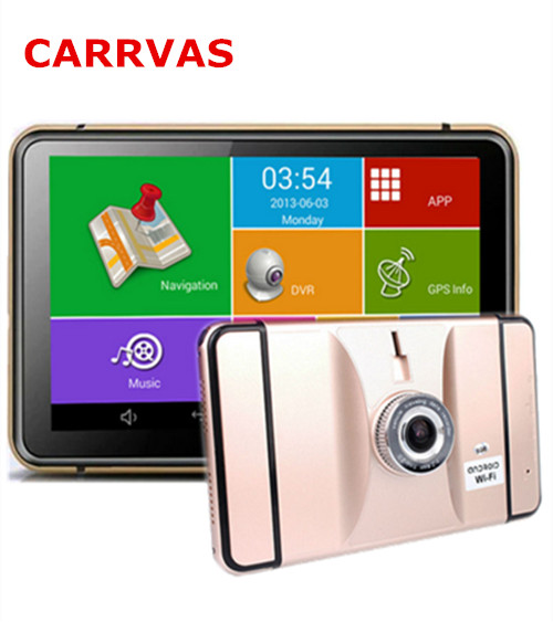 7 inch Car GPS Navigation Android 4.4 FHD 1080P Car DVR Camera Recorder WiFi Bluetooth MT8127 Quad-core Vehicle gps Free Map(China (Mainland))