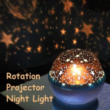 New Design Rotation Star Sky Kid Luminous Light Lamp Night Projector Romantic Decoration NVIE(China (Mainland))