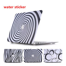 Top Sale Ultra-thin Water stickers black and white texture Surface Hard Case For Macbook Pro Retina 15.4 Inch A1398 laptop bag(China (Mainland))