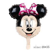 112 см гигантский Микки Минни Маус Фольга Воздушный шар Мультяшные игрушки для дня рождения украшения детский душ вечерние игрушки шарики(China)