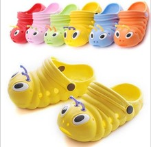 2016 0-6 years summer garden infant antiskid shoes baby boys and girls sandals lovely caterpillar newborn cack kids slippers(China (Mainland))