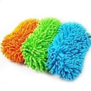 Ultrafine fiber single face nano chenille car wash gloves car wash supplies cleaning gloves car cleaning products(China (Mainland))