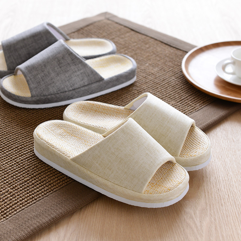 Chilean court of Japanese men and women fashion spring and summer home pelvic floor papyrus sandals and slippers couple home sli(China (Mainland))