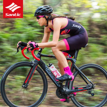 Buy Santic Pro Cycling Jersey 2017 Sleeveless Triathlon Cycling Skinsuit One-pieces Breathable Quick-dry Women Bike Bicycle Jersey for $51.65 in AliExpress store