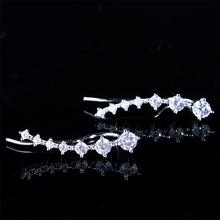 Buy GZ 925 Silver Statement Earring Women Jewelry S925 Sterling Silver boucle d'oreille Rose Gold Color Cubic Zircon Stud Earrings for $7.99 in AliExpress store