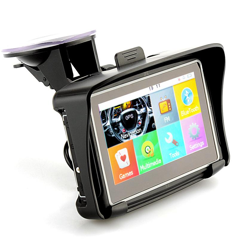 4.3 Inch GPS Car Navigation Waterproof Navigator For The Car 8G Flash Bluetooth FM Transmitter Free Shipping GPS Car Navigation(China (Mainland))